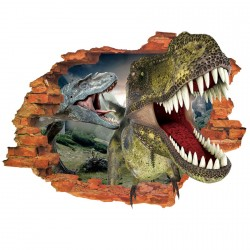 VINILO PARED DINOSAURIO 3D